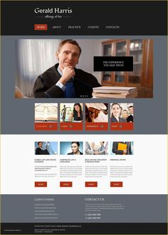 Free Website Template for a Law Firm Free Website Templates, Joomla Templates, Templates Printable Free, Design Templates, Design Logo, Design Poster, Site Design, Law Firm Website, Web Development Agency