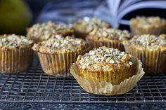 pear, hazelnut and chocolate chunk muffins