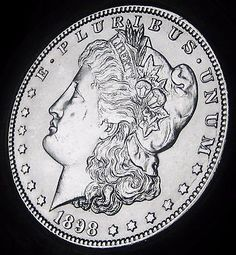 1898-O MORGAN DOLLAR - ALMOST UNCIRCULATED - BETTER DATE COIN! FAST COIN SHIP!