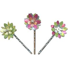 Rings & Things Design Gallery | Hair Accessories | Can Can Flowers Bobby Pins
