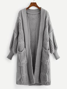 Fabulous Crochet a Little Black Crochet Dress Ideas. Georgeous Crochet a Little Black Crochet Dress Ideas. Knit Cardigan Pattern, Long Knit Cardigan, Sweater Cardigan, Cardigan Outfits, Sweater And Shorts, Grey Fashion, Fashion Outfits, Winter Fashion, Casual Outfits