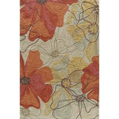 Possible 2nd bedroom?  Hand-tufted Copia Blossom Multi Polyester Rug - Overstock Shopping - Great Deals on 5x8 - 6x9 Rugs