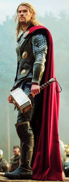 Thor. Nothing to say against men in stupid costumes if they end up looking like this (and the film is good too! )