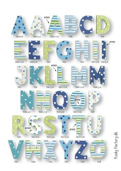 Wooden Letters For Nursery, Painted Letters, Wood Letters, Baby Crafts, Crafts To Do, Ideas Habitaciones, Baby Words, Alphabet, Letter Wall