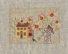 Blackbird Designs: Sunflower House.  1 st ov 2 some elements moved around