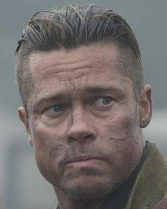 Brad Pitt Fury Images 11335 14 Best Fury Haircut Images In 2018 Hairstyle Names, Mohawk Hairstyles, Brad Pitt Hairstyles, Cool Haircuts, Haircuts For Men, Brad Pitt Short Hair, Brad Pitt Fury Haircut, Beard Styles, Hair Styles
