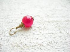 Poppy pink charm jade feminine fashion pamelasjewelry