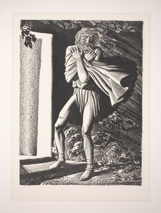 """Rockwell Kent, Blow, winds, and crack your cheeks! Rage! Blow! (Illustration reproduction for """"King Lear""""), 1936, Dallas Museum of Art, gift of Mr. and Mrs. Stanley Marcus"""