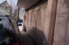 Broken garage door. Investment Property, Garage Doors