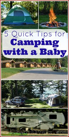 5 quick tips for camping with a baby. Must read!