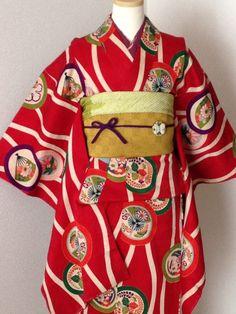 超美品、アンティーク子供着物|レトロモダン、アンティーク子供着物 創作工房ゆみり