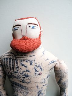 Mimi Kirchner. the tatooed bearded man souvenir of the roll up circus...exit through the gift shop