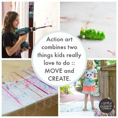 Action Art for Kids - art using power tools