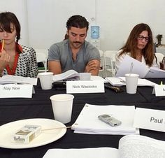 """First table reading for """"Show Me A Hero"""", David Simon, Paul Haggis, HBO Paul Haggis, Show Me A Hero, Oscar Isaac, Best Actor, American Actors, The Incredibles, Crushes, David, Tv"""