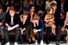 Could this family get any more beautiful? See more from the Beckhams' front row outing at Burberry's LA show. (Harper's style is especially on point!)