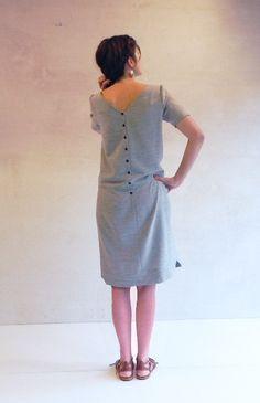 #dress #back #grey Pachira - la robe tressée - lady / Blousette Rose