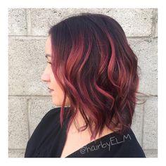 Strawberry peach swirl  #hairbyELM #modernsalon #behindthechair #americansalon #beautylaunchpad