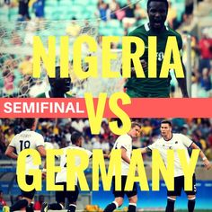 Nigeria vs Germany Semifinals  #olympics #soccer #futebol #football #olympic Olympic Football, Olympics, Germany, Soccer, Movies, Movie Posters, Futbol, Film Poster, Films