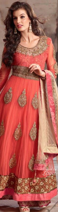 Ranired Net Churidar Anarkali Suit.✿*❋Laya