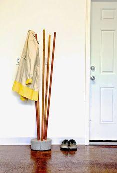 Ana Blanc | Construire un béton moderne et Broomstick Coat Tree | gratuites et projet de bricolage facile et meubles Plans