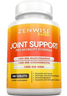 Zenwise Health, Joint Support with Glucosamine Sulfate + Chondroitin + MSM - Extra Strength Joint Pain Relief Supplement with Hyaluronic Acid for Aches, Soreness & Inflammation - 180 Tablets Natural Remedies For Arthritis, Knee Pain, Vitamin Deficiency, Hyaluronic Acid, Pain Relief, Ebay, Natural Health, Strength