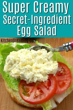 The cream cheese makes this egg salad so creamy, it's absolutely the best egg salad you've ever tasted. Salad with Cream Cheese Egg Salad Egg Salad Recipe Dreaming salad Secret-Ingredient Super-Creamy Egg Salad Cream Cheese Eggs, Cream Cheese Recipes, Creamy Cheese, Egg Salad With Cream Cheese Recipe, Egg Salad Sandwiches, Wrap Sandwiches, Steak Sandwiches, How To Make Cheese, Food To Make