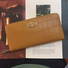 New Edition!2016 Mulberry Handbags Collection Outlet UK-Mulberry Zip Around Wallet Camel Deep Embossed Croc Print