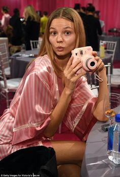 Keep it up: Magdalena Frackowiak, 31, who made her fourth appearance in a Victoria's Secre...