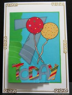 Card Gallery - 7 Today Balloons  Card made by Yvonne Middleton