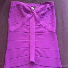 Tops - Purple Bandage Tube Top