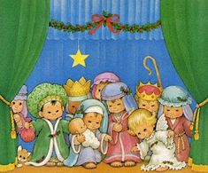 Pasitos de Colores: HISTORIA DE NAVIDAD Christmas Nativity, A Christmas Story, Christmas Fun, Vintage Christmas, Christmas Cards, Precious Moments, Vintage Toys, Coloring Pages, Clip Art