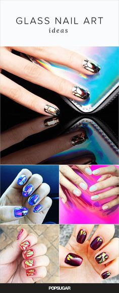 """It's easy to feel a bit jaded when it comes to holiday nail art ideas. You've seen everything from foil to glitter ombré and negative space. So we hope you share our enthusiasm over the latest festive manicure to arise from the holy land of beauty trends, Korea. The look is deemed """"glass nail art."""" The manicure is meant to transform nails into diamonds or glass bottles. And there are many ways to interpret it. Check out some dreamy ways to rock the look."""