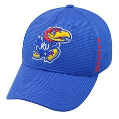 Kansas Jayhawks Official NCAA Booster Plus Embroidered Hat Cap by TOW 021953