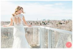 Rooftop photo! Someone else snuck up there!    An Elegant Winter Wedding at The Doctor's House: Ann David
