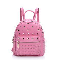 2016 mochila pequeñas nuevo estilo buena calidad cuero de moda mochilas con remaches para mujeres [AL93116] - €66.38 : bzbolsos.com, comprar bolsos online