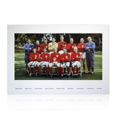 1966 World Cup squad signed photo - Hand signed by 10 of the team
