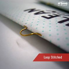 Types of Book Binding-Loop Stitched