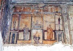 ***Domus Aurea ¿Corredor de las Grandes Figuras?Roma. Realizado por Fabulus en el cuarto estilo de pintura mura (segunda mitad del S.I d.C.).