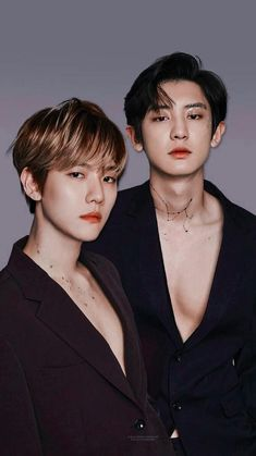 Baekhyun and Chanyeol Kpop Exo, Exo Bts, Bts And Exo, Namjin, Taekook, K Pop, Baekhyun Chanyeol, Exo Chanbaek, Saranghae