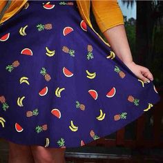 Wear your fruit on your dress (because it's Friday and that's all the reason we need). #modcloth #fruitfashionfriday #regram @not_your_average_ashley