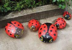turn stones into ladybugs
