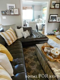 Great couch and great tips for decorating