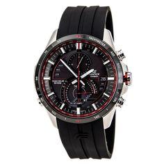 Casio Men Watches : Casio Edifice Solar Chronograph Black Dial Stainless SteelEQS-A500B-1AVCR