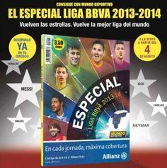 ¡Hazte con el Especial de la Liga BBVA 2013-2014 de Mundo Deportivo! Más info en el enlace: http://ofertasdeprensa.offertazo.com/especial-liga-bbva-mundo-deportivo/