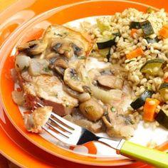 Pork Chops with Mushroom-Tarragon Sauce