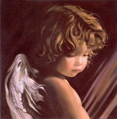 Angel looking down - by Nancy Noel