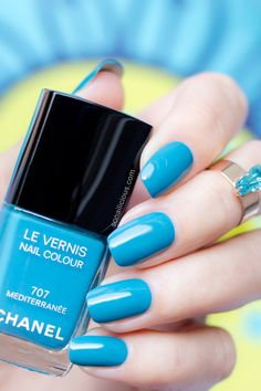 Chanel Mediterranee. Want! (The fact that I already own ~10 versions of this color is unimportant.)