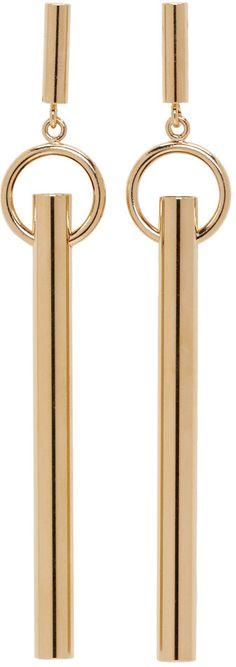 Isabel Marant - Gold Tube Earrings