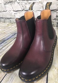 NEW Dr. Martens 2976 Chelsea Boots Cherry Antique Temperley US Woman's Sz 6 UK 4 | eBay