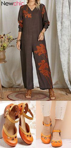 New Chic, Autumn Fashion, Capri Pants, Jumpsuit, Plus Size, V Neck, Bride, Clothes For Women, Long Sleeve